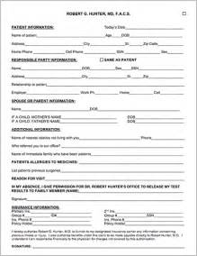 template for patient information sheet patient forms robert g md facs