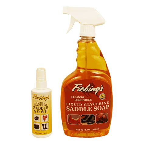 Saddle Soap On Leather by Frankford Leather Company Fiebings Saddle Soap Liquid