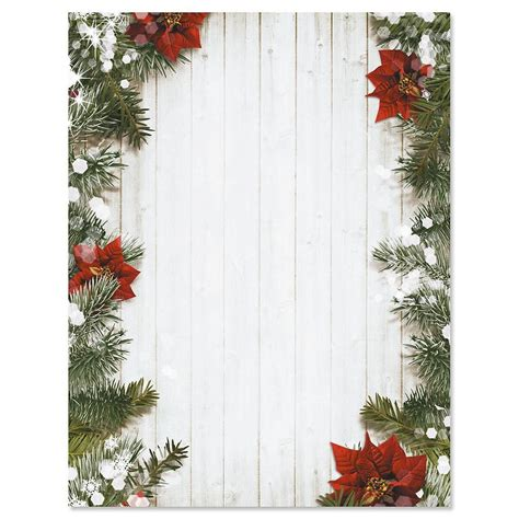 poinsettia pine christmas letter papers current catalog