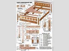 Bedroom Furniture Plans • WoodArchivist T 34 Blueprints