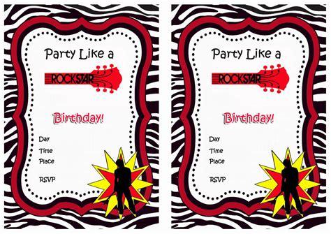 printable rock star rock star birthday invitations birthday printable