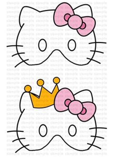hello kitty mask printable template hello kitty kitty and coloring pages on pinterest