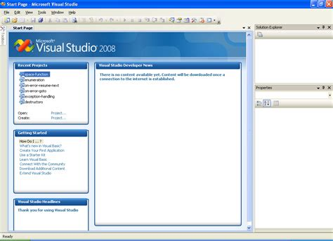 tutorial vb net windows application create a project in vb net