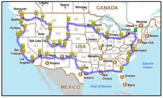 across the usa in just 5 minutes best road trip