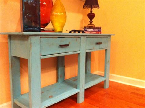 Diy Console Table With Drawers by White Benchwright Console Table Diy Projects