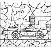Truck Colour By Number Colouring Pages