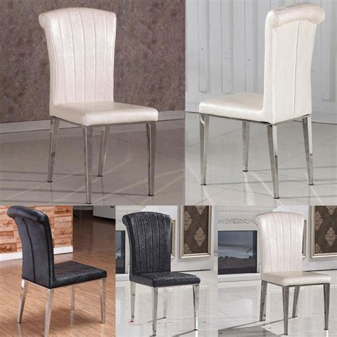 White Chairs For Living Room 2015 Classic Chair Stainless Steel Leather Dining Chairs Fashion Living Room Dining Chair Black