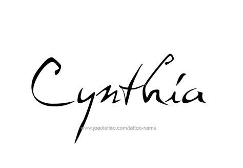 cynthia tattoo cynthia name design images