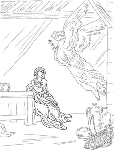 coloring pages of the angel gabriel angel visits mary coloring page hot girls wallpaper