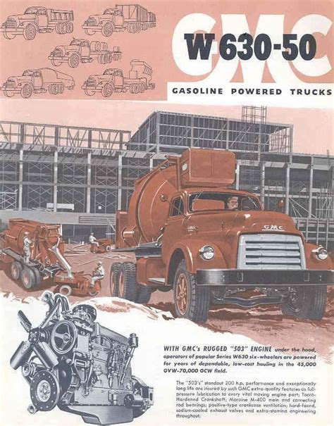 Mixer Gmc 1954 gmc w630 50 mixer truck sales brochure wf9349 uebj2u