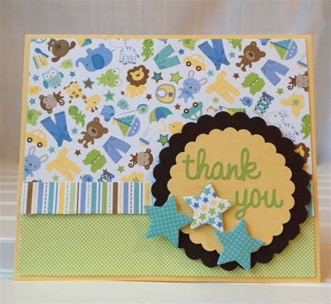 Handmade Baby Thank You Cards - baby shower thank you cards 365 days of crafts