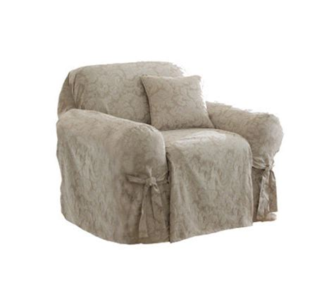 sure fit scroll slipcover sure fit scroll chair slipcover qvc com