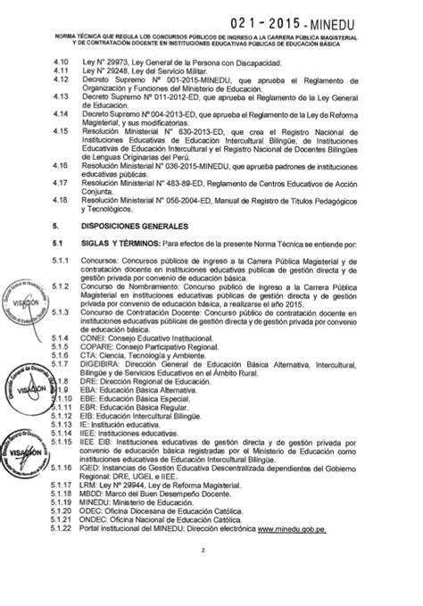 decreto supremo n 010 2015 minedu modifica el reglamento rvm 021 2015 minedu