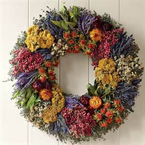 wreath decorations farmers market herb wreath traditional wreaths and garlands by williams sonoma