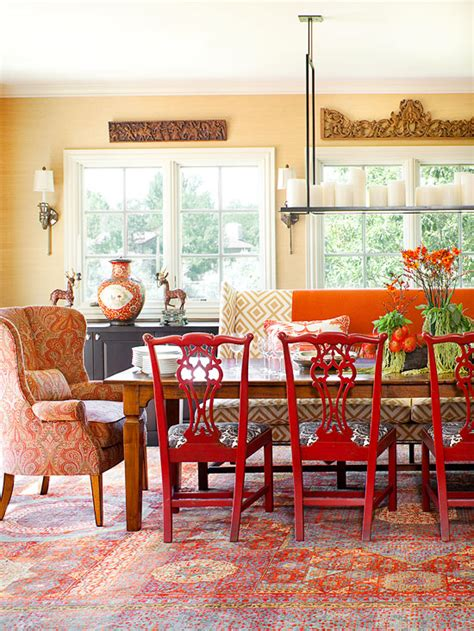 cozy decorating orange red the inspired room