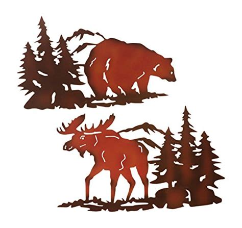 Moose Wall Decor by Cabin Ironworks Moose Decor And Decor Metal Wall