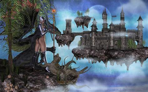 hd castle   sky wallpaper