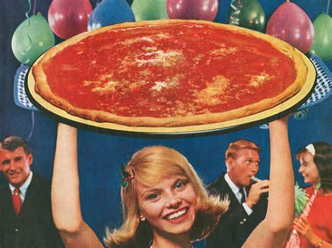 retro pizza ads   aged  wonderfully  horribly