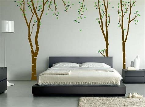 big wall decals for bedroom large wall birch tree decal forest vinyl sticker removable with leaves branches 1119