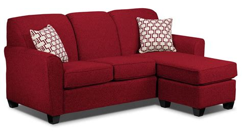 red chaise sofa ashby chaise sofa red leon s