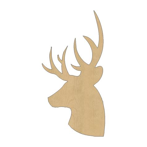 templates for wood cutouts deer cutout shape laser cut unfinished wood shapes craft
