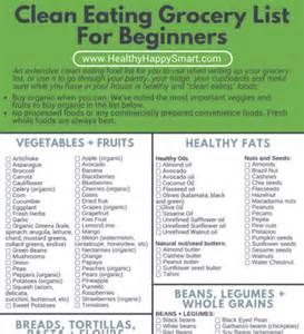 clean eating grocery list healthy food list healthy