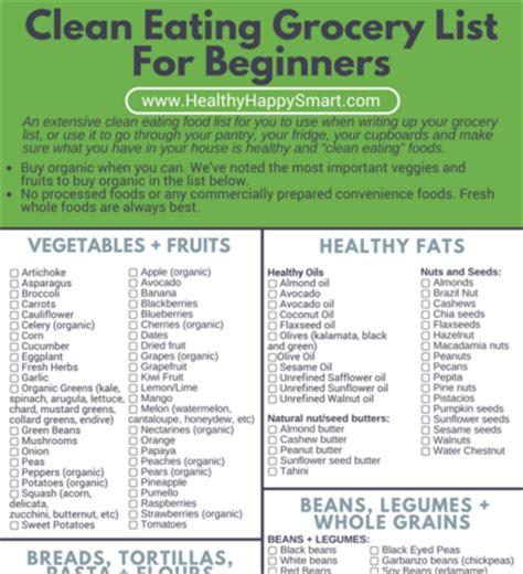 healthy fats list pdf clean grocery list healthy food list healthy