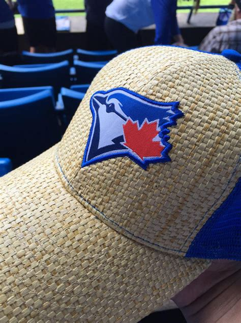 Blue Jays Hat Giveaway - may 24 2015 toronto blue jays vs seattle mariners blue jays trucker hat