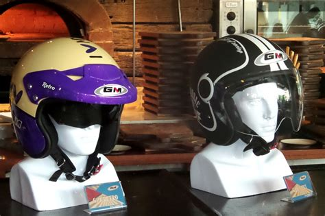 Helm Retro Fino Kt Motif V05 gm retro helm keren bergaya klasik gilamotor