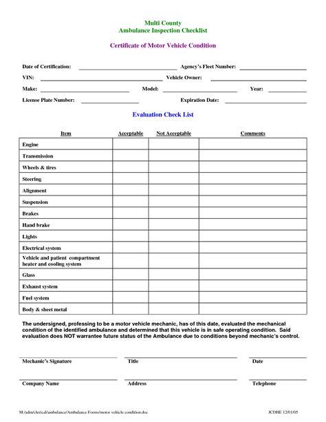 best photos of vehicle maintenance checklist form