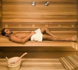 sweat away toxins in the sauna fitness tc