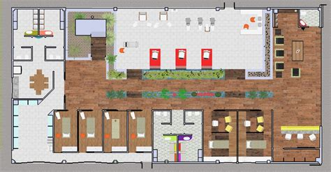 Kitchen Layout design de interiores spa urbano