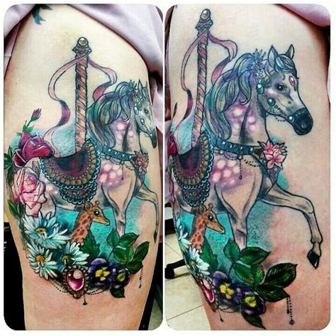 carousel tattoo designs carousel baby giraffe flowers tattoos
