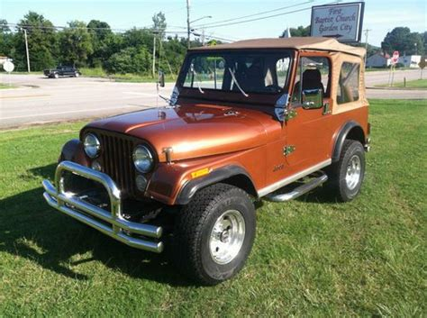 brown jeep cj7 buy used 1983 jeep cj7 in hanceville alabama united states