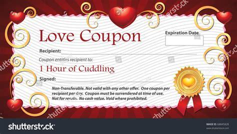 printable love massage coupons printable love coupon gift one hour stock illustration