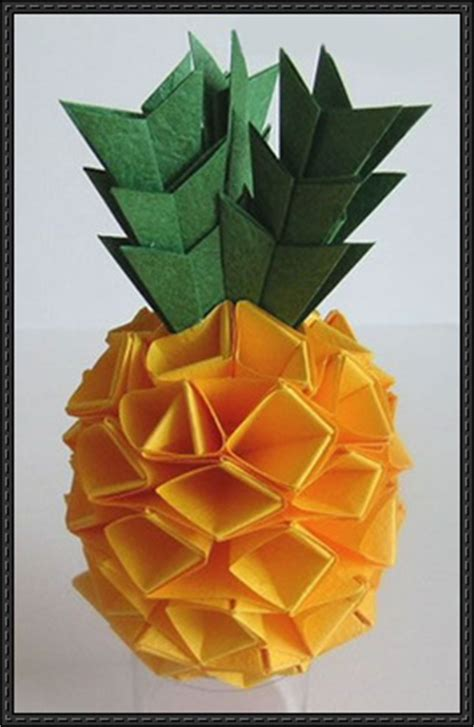 paper pineapple craft origami pineapple free diagram