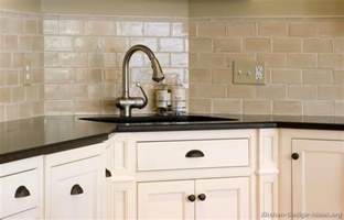 Kitchen Tile Backsplash Ideas With White Cabinets by Off White Subway Tile Kitchen Backsplash