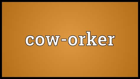 cowhide meaning cow orker meaning