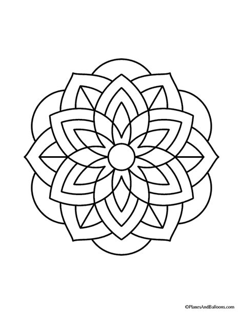 how to color mandalas easy mandalas to color 01 planes balloons let s make