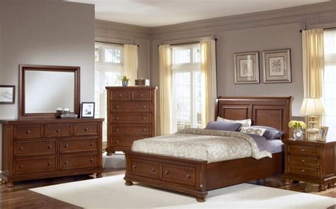 reflections bedroom set reflections medium cherry sleigh storage bedroom set 536