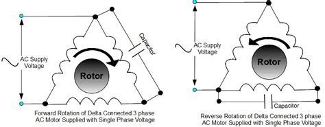 delta operation of induction motor running a three phase ac induction motor on single phase