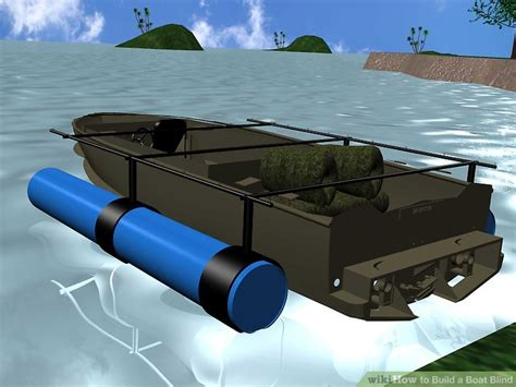 how to build a boat duck blind 6 ways to build a boat blind wikihow