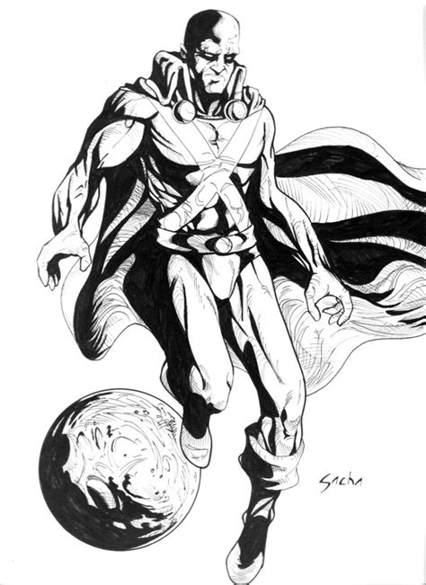 martian manhunter free coloring pages