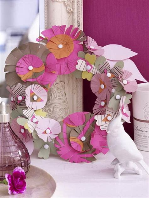 Creative Paper Craft Ideas - 50 creative paper craft decoration ideas family