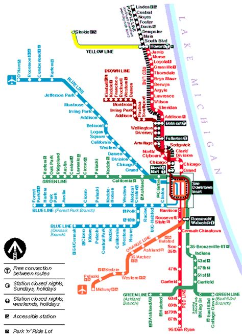chicago metro map chicago metro map toursmaps