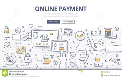 doodle free website concept of payment methods discount voucher shop store