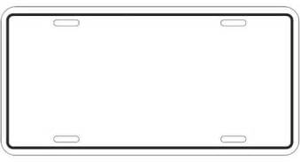 license plate template license plate coloring page coloring coloring pages