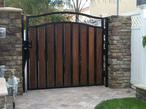 wrought iron gates wood gates chain link gates custom built ask home design