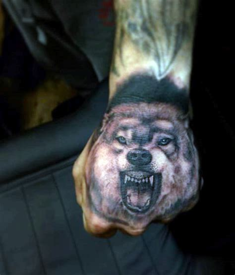 full hand wolf tattoo cool hand tattoos for men and women hand tattoo designs