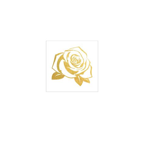 rose golds tattoo gold flash gold ink
